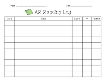 AR Reading Log