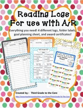 AR Reading Log and Goal setting Set