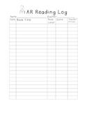 AR Reading Log for Data Folder