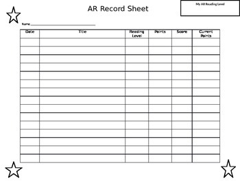 AR Record Tracking Sheet