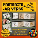 Spanish Preterite AR Verbs Interactive Notebook Trifold Flashcards, Pretérito
