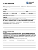 AR (Second Chance) Book Report Form for Middle & High School Students