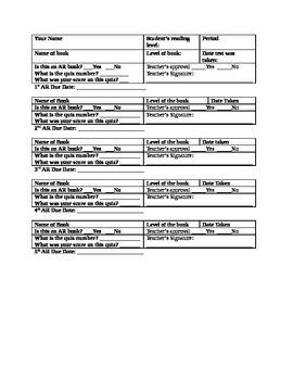 AR Sheet