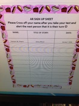AR Sign up Sheet (Sweet Themed)