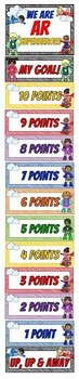 AR Superheroes ~ Reading Goal Clip Chart