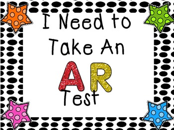 AR Test Clip Chart