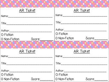 AR Tickets