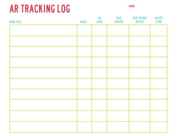 AR Tracking Log