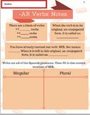 AR VERB Notes, Practice, Review, Conversation, Prezis