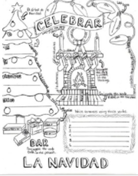 AR Verb Christmas Conjugation Coloring Sheet