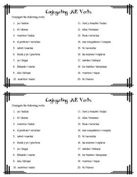AR Verb Conjugation Practice