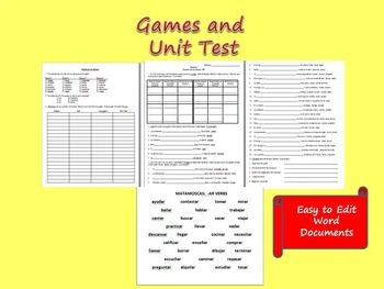 AR Verbs Definitions and Conjugations Packet (35 Pages)