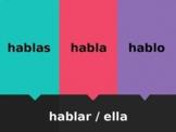 AR Verbs in Spanish Verbos AR Matamoscas Flyswatter game