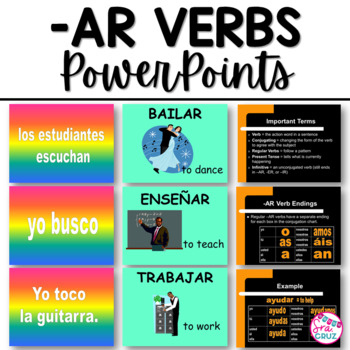 AR Verbs PowerPoints Bundle