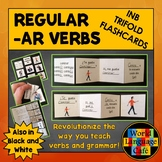 Spanish AR Verbs Interactive Notebook Trifold Flashcards