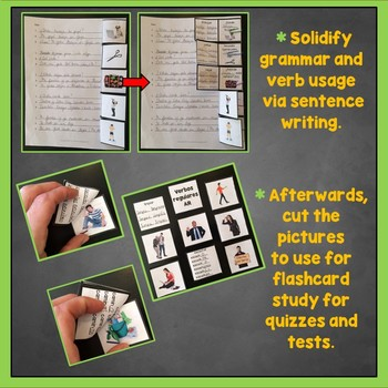 Spanish AR Verbs Interactive Notebook Trifold Flashcards Sample