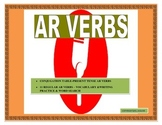 Distance Learning-Spanish AR Verbs-Conjugation Table-Writing Prompt/Word Search