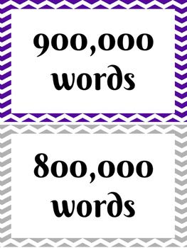 AR Word Count Chart (Purple and Silver)