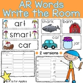 """AR"" Words Write the Room {R-Controlled Vowels}"