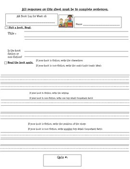 AR Worksheet (More Difficult Version)