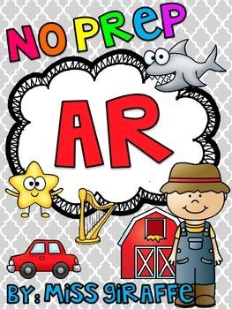AR Worksheets & Activities {NO PREP!} by Miss Giraffe | Teachers ...