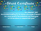 AR and AM award certificates