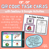 AR and OR QR Code Task Cards with Distance Learning Option