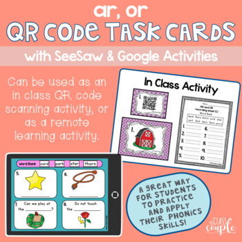 AR and OR QR Code Task Cards