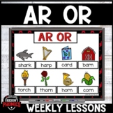 AR and OR Word Work Distance Learning