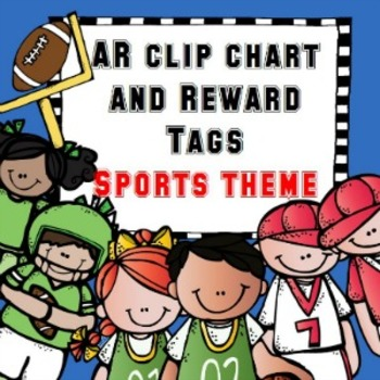 AR clip chart and reward tags ~ Sports theme ~ Accelerated Reader