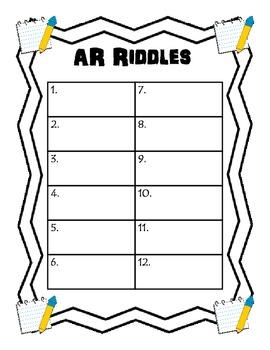 AR riddle clue cards
