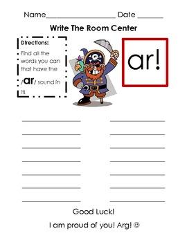 AR sound, write the room reading center/workshop