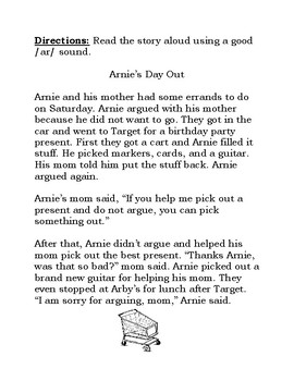 AR stories for articulation