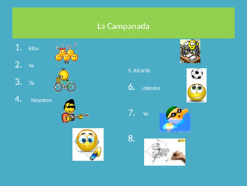 AR verb conjugation practice and vocabulary practice in context.