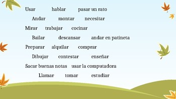 AR verb matamoscas game