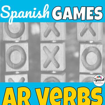 AR verbs: Spanish Tic-Tac-Toe Game