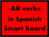 AR verbs in Spanish Game board for Smartboard