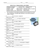 AR verbs practice with word bank