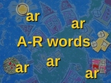 AR words Slideshow and Spelling Activities