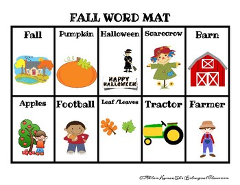 ARABIC and ENGLISH FALL WORDS!