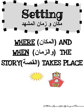 ARABIC and ENGLISH STORY ELEMENTS POSTERS!