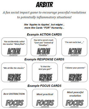 ARBITR - a fun social impact game for 3-4 players