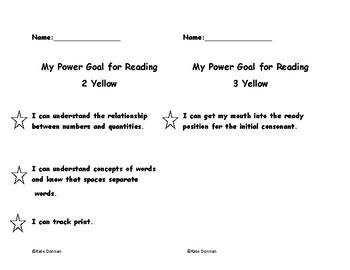 ARC Power Goals - 2Yellow and 3 Yellow
