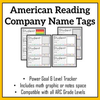 ARC Reading Level Name Tags w/ Math Graphic