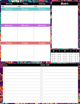 ARC Weekly Planner with Teacher Task Lists