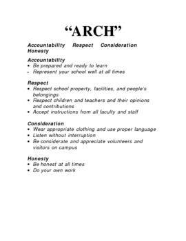 ARCH: A Simple and Effective Discipline Standard