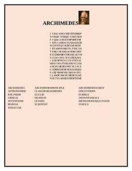 ARCHIMEDES, A Biographical Word Search