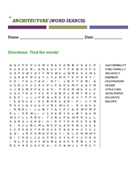 ARCHITECTURE (WORD SEARCH)