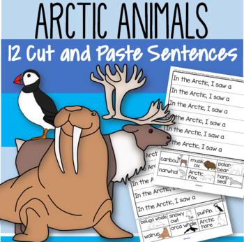 arctic animals cut and paste sentences free by kidsparkz tpt. Black Bedroom Furniture Sets. Home Design Ideas