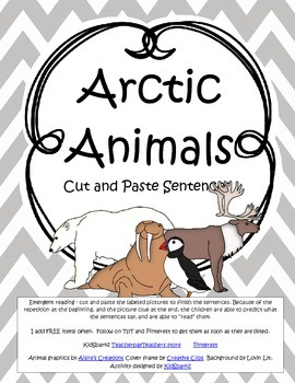 ARCTIC ANIMALS Cut and Paste Sentences FREE